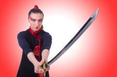 Mujer en marcial japonés Imagen de archivo libre de regalías