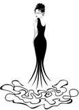 Mujer en negro libre illustration