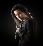 Mujer en negro Fotografía de archivo