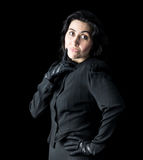 Mujer en negro Fotos de archivo libres de regalías
