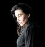 Mujer en negro Imagen de archivo