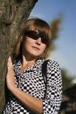 Mujer en parque Imagen de archivo