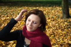 Mujer en parque Fotografía de archivo