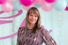 Mujer en partido Fotografía de archivo libre de regalías