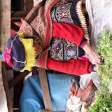 Mujer en Perú Imágenes de archivo libres de regalías