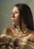 Mujer en piel Fotografía de archivo