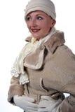 Mujer en piel del invierno imagen de archivo libre de regalías