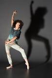 Mujer en pointes Fotografía de archivo