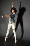 Mujer en pointes Foto de archivo libre de regalías