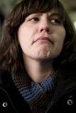 Mujer en repugnancia foto de archivo