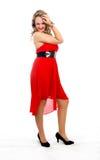 Mujer en rojo fotografía de archivo libre de regalías