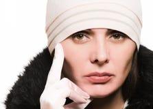 Mujer en ropa del invierno Imágenes de archivo libres de regalías