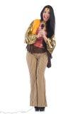 Mujer en ropa española Imagen de archivo