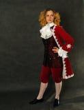 Mujer en ropa francesa pasada de moda Imagen de archivo libre de regalías