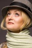 Mujer en sombrero Imagen de archivo libre de regalías