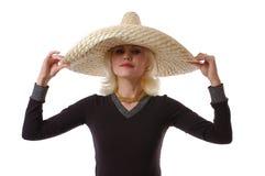 Mujer en sombrero Fotos de archivo