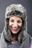 Mujer en sombrero del invierno Foto de archivo libre de regalías