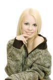 Mujer en suéter Fotografía de archivo