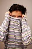 Mujer en suéter fotografía de archivo libre de regalías