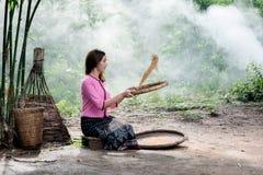Mujer en Tailandia local Fotografía de archivo