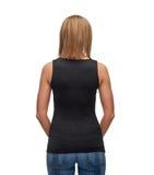 Mujer en top sin mangas negro en blanco Foto de archivo