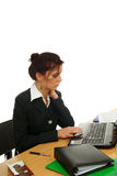 Mujer en trabajo Imagenes de archivo