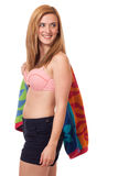 Mujer en traje de baño Imagen de archivo libre de regalías
