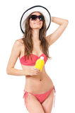 Mujer en traje de baño Fotos de archivo libres de regalías