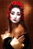 Mujer en traje del este tradicional Imágenes de archivo libres de regalías
