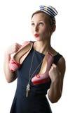 Mujer en traje del marinero Imagen de archivo