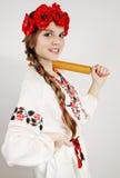 Mujer en traje nacional Imagen de archivo libre de regalías