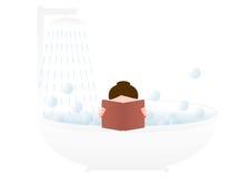 Mujer en un baño Fotos de archivo libres de regalías