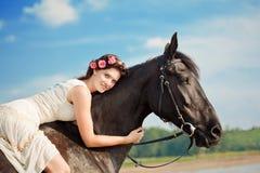 foto mujer a caballo:
