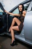 Mujer en un coche Fotografía de archivo