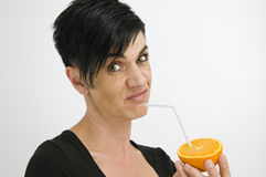 Mujer en un humor asqueroso Imagen de archivo