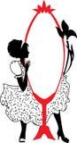 Mujer en un illustartion del vector del vestido de noche Imagen de archivo