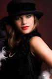 Mujer en un sombrero. imagen de archivo