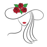 Mujer en un sombrero Imagen de archivo