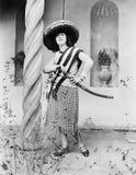 Mujer en un traje del mexicano (todas las personas representadas no son vivas más largo y ningún estado existe Garantías del prov Fotografía de archivo