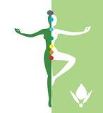 Mujer en una posición de balanza - vector el ejemplo Foto de archivo libre de regalías