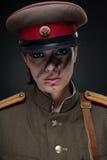 Mujer en uniforme militar Imágenes de archivo libres de regalías