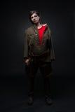 Mujer en uniforme militar Imagen de archivo libre de regalías