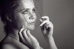 Mujer en velo Imagen de archivo libre de regalías