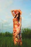 Mujer en verano Fotografía de archivo