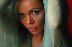 Mujer en verde Foto de archivo libre de regalías