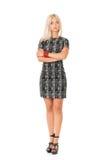 Mujer en vestido Fotografía de archivo libre de regalías