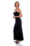 Mujer en vestido de noche Imágenes de archivo libres de regalías