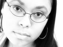 Mujer en vidrios Fotos de archivo libres de regalías