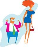 Mujer encantadora ilustración del vector