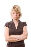 Mujer enfadada Fotografía de archivo libre de regalías